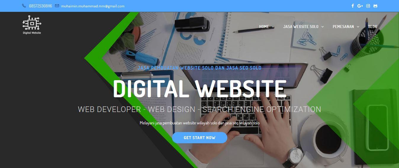 Digital Website - Jasa Website Solo - Jasa SEO Solo - Jasa Pembuatan Website Solo - Website Murah Solo